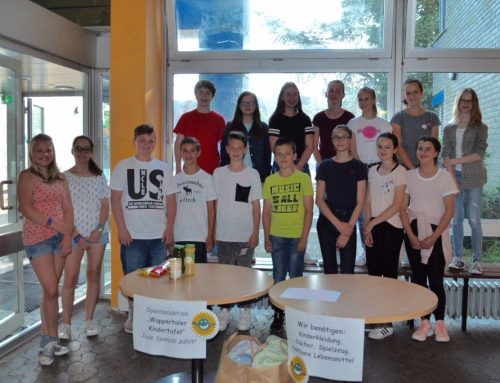 Spendenaktion des kath. Religionskurses für die Wuppertaler Kindertafel
