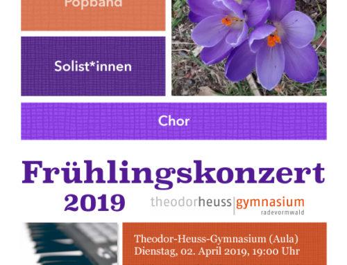 Frühlingskonzert: Gymnasium lädt ein