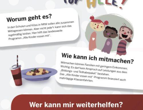 """Härtefallfonds """"Alle Kinder essen mit"""" ab Beginn des Schuljahres 2020/21"""